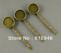 bobby pins with pad - Antique Bronze Hair Bobby Pin clips with mm Pad Tray Jewelry Findings Accessories
