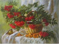 fruit gift baskets - Painting By Numbers Frameless DIY Digital Oil Painting Linen Canvas Christmas Gift Home Decoration x50cm Fruit Basket WK067