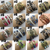 Wholesale cool Infinity bracelets HI Q Jewelry fashion Mixed Infinity Charm Bracelets Silver Style pick for fashion people E25J