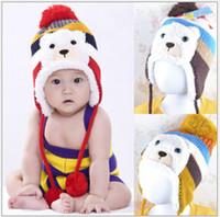 baby bear hat crochet pattern - HOT sale Colorful Crochet Baby Hat Stripe Pattern Cartoon Bear Design Thicken Kids Winter Caps Baby Warm Hats