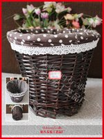 Wholesale Environmental willow weave basket storage basket for home storage organization useful Chinese traditional crafts