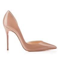Women Painting Medium - Difeina New Fashion Ladies shoes Coat of paint CM Super High Heel medium altitude Pointed shoes