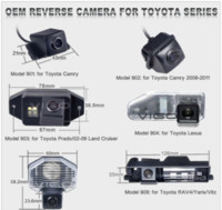 Wholesale Car Backup Parking Rear view reversing Review Parking Camera for Toyota Lexus Camry Prado Reiz Vitz Avensis Verso Corolla Yaris M37286