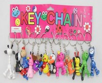 animal mobile craft - Selling wooden crafts key pendant mobile phone s accessories cartoon animal key chain