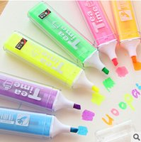 Wholesale Kawaii Candy Color Tea Time Highlighter Fluorescent Pen Markers Gift Stationery Kids Writing Drawing Tool