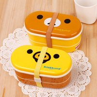 ball bearing china - Cartoon sushi box lunch box double layer lunch box easy bear balls seaweed box