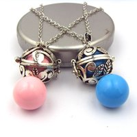 baby inner - Mexican Bola Pregnancy Gift Baby Jewelry Pendants Necklace Gold Inner mm Ball Harmony Bola
