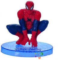 scale model figures - Spiderman Toys Scale Models Toys Superman Action Mini Anime Figure For Children As Christmas Gifts Set style