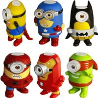 Wholesale Despicable Me Cartoon Bluetooth Speaker Wireless Portable Stereo Music Player with FM Radio TF Card Slot U Disk Retail Box