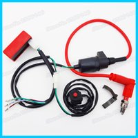 Wholesale Wiring Loom Harness Kill Switch Racing Ignition Coil CDI Box Spark Plug Pit Dirt Bike Motocross Motorcycle Atv order lt no track