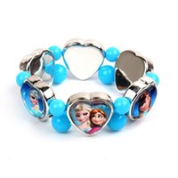 Cheap Charm Bracelets Frozen Bracelet Best Asian & East Indian Children's Heart Princess bracelet