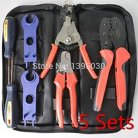 Wholesale 5Sets By DHL Crimper Solar Crimping Tool Kits for MC4 Connectors PV TOOL For Solar Panel Installation