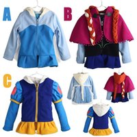 Wholesale Fashion girls Anna jackets cartoon girl sweatshirt children outerwear Elsa Anna princess coats baby clothing girls hoodies