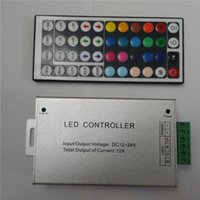 Wholesale Aluminium Key Key A Output IR Remote Control Cheap DC12V V Input RGB Controllers for LED Strip