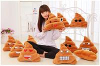 Cheap 6 styles 18cm emoji Stuffed Animals Hold pillow cute Big poop emoji Plush Toys Pillow case 2016