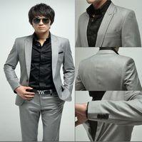Wholesale 2015 Hot Selling Groom Tuxedos Black Mandarin Lapel Best Man Groomsman Men Wedding Suits Prom Form Bridegroom Jacket Pants Tie Vest