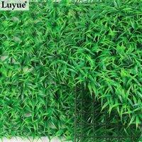 artificial sod - Luyue artificial Green grass mat plastic fake plants lawn Encryption Turf Aquarium Ornament Sod home garden decoration