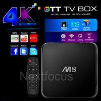 2015 baratos M8 Smart Android IPTV TV BOX 4.4 2GB DDR3 8GB Cuatro Núcleo Amlogic S802 2.0GHz 4K Streaming Media Stream Vedio Preinstalado XBMC DHL