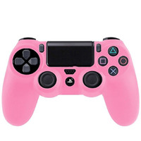 Cheap Hot sale New Promotion Pink Soft Silicone Rubber Gel Skin Case Cute Cover for PlayStation 4 PS4 Controller free shipping