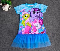 little girls clothing - 2015 Girls My little pony Dress cm Little Pony Baby tutu clothes Cartoon My Pony