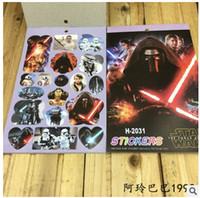 Wholesale Star Wars Stickers D Cartoon Mini Kids Stickers Notebook Stickers Darth Vader Stormtrooper Stickers Children Classic Toys Kids Gifts m1057