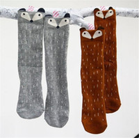 Wholesale gril baby children s socks leggings sock cartoon socks cute Christmas gift little fox stereo ear Cotton pop socks Autumn winter cotton