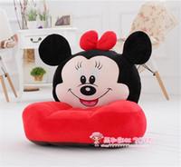 Wholesale Cartoon Beanbag Plush Animal Sofa Chair Cute Little Baby Single Sofa Washable Plush Toys For Children