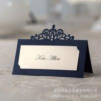 al por mayor boda menú-2015 Nuevas fuentes europeas de la boda invitaciones Menús de las tarjetas de nombre dulces Favores de la boda de la caja del caramelo y regalos