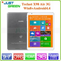 Wholesale 9 quot Teclast X98 Air G Dual Boot Tablet PC Windows Android Intel Z3736F Quad Core GHz GB RAM GB ROM Dual Camera HDMI GPS