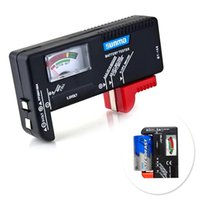 Wholesale New AA AAA C D V Universal Battery Volt Tester Button Cell Checker Digital Display EC030