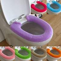 Cheap 2014 hot sales bathroom thickening plush toilet soft toilet seat cover potty pad toilet set U shape mat