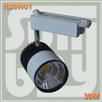 WW(3000K)/NW(4500K)/CW(6000K)  led track lighting - high quality high lumens W COB chip LED Track Rail Light Spotlight Shop Tracking Ceiling Fixture