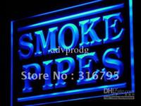 led signs - j076 b Smoke Pipes Shop Display Adv LED Light Sign