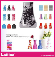 Wholesale Hot sell Random Medium Size cm folding plastic decorative vase