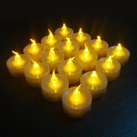 Wholesale 18pcs Romantic Wedding Flameless Candles With Plastic Glass Amazing Birthday Remote Control Velas Wife New Year Creative Gifts