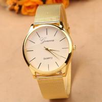 El reloj lleno de la manera de la mujer del acero inoxidable del reloj caliente de sale.Gold mira la mejor calidad G-8072 del nuevo del reloj del cuarzo de Ginebra de la marca de fábrica libera el envío