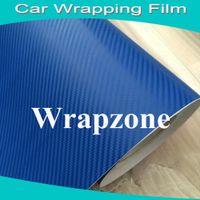 3d carbon fiber vinyl - Brand Hotsale Blue D Carbon Fiber Vinyl Roll Clothes With Bubble Free Size x30m Roll Fedex