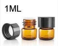 Bouteille Factory Prix Livraison gratuite 1ML Ambre Mini verre, 1CC Ambre flacon d'échantillon, prix usine petite bouteille d'huile essentielle