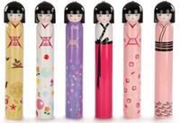 free japanese girl - EMS Free Creative Gifts Umbrella Women Girls Kawaii Floding Parasols Lighter Sunshade Cute The Japanese Doll Printing Packing Color I4139
