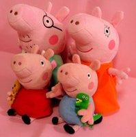 Wholesale 4pcs Peppa Pig Family Stuffed Toy Plush Doll CM DADDY MUMMY CM Peppa GEORGE For Kids Gift Christmas Present