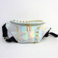 Wholesale Brand PVC Hologram Fanny Pack Bum Bag Purse Waist Bag Fashion Lady Men Women Laser Bag