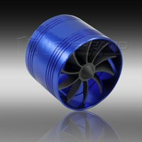 auto supercharger - GPS Blue Universal Car Auto Air Intake Gas Fuel Saver Turbo Supercharger Turbine Fan A10