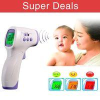 Wholesale New Muti fuction Baby Adult termometro digital infravermelho Forehead Body Thermometer Gun Non contact Temperature Measurement