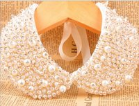 bijoux déclaration de mode de luxe à la main Collier Faux perles Femmes Charm Collier Choker