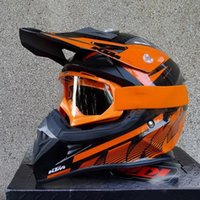 Wholesale 2015 New KTM cross country motorcycle helmet off road motorbike helmet send FREE goggles Made of ABS weight g