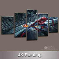 art painting images - Spider Man Movie modern Canvas Painting Art for children s living room decor from HD movie poster image print on canvas