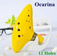 bass ocarina - Top Quality Holes Ocarina Musical Instruments Legend of Zelda Ceramic Material colors in stock VS guitar kit