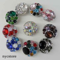 Wholesale DHL Shipping Noosa Chunk Button rhinestone Snaps Jewelry buttons fit for mm Noosa DIY Leather Bracelet