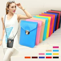 Wholesale Fashion Mini Cross Body Change Purse Mobile Phone Bags For Women PU Leather Ladies Shoulder Bags Fashion Bags Colors