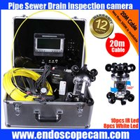 sewer pipe inspection camera - Freeship m degree Waterproof Sewer Pipe Pipeline Drain Snake Inspection Camera System with quot Lcd monitor